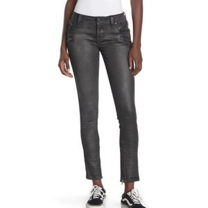 Rock Revival Camille Skinny Coated Moto Jeans  NWT